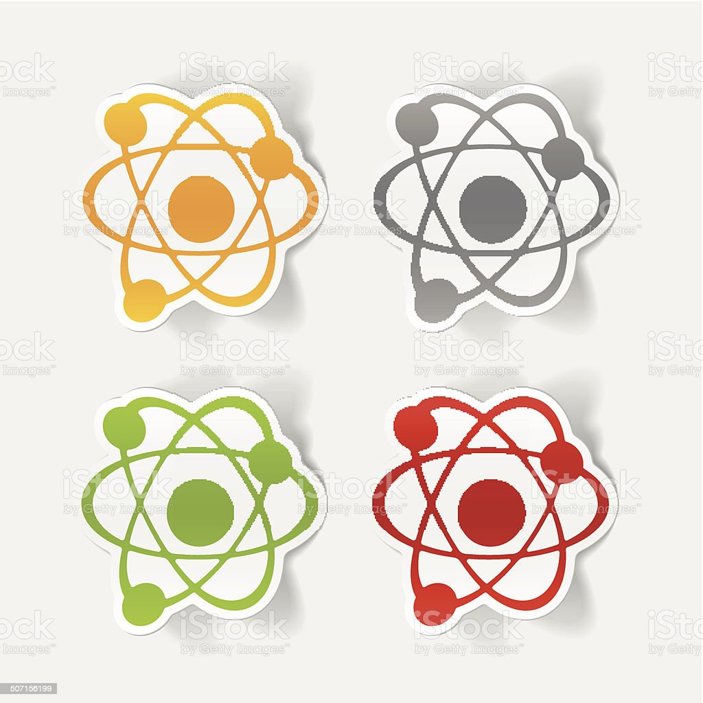 realistic design element: atom royalty-free stock vector art