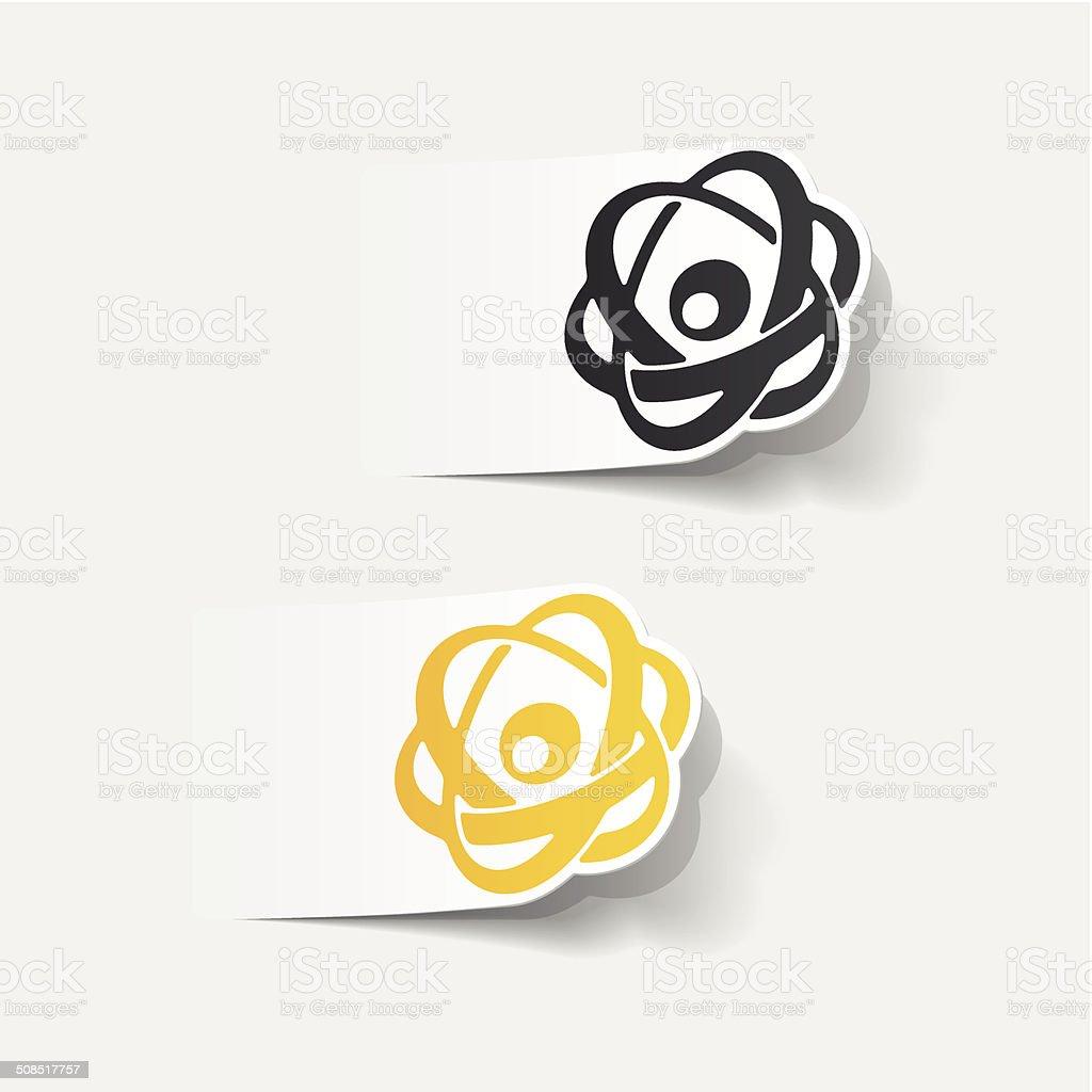 realistic design element: atom royalty-free stock vector art