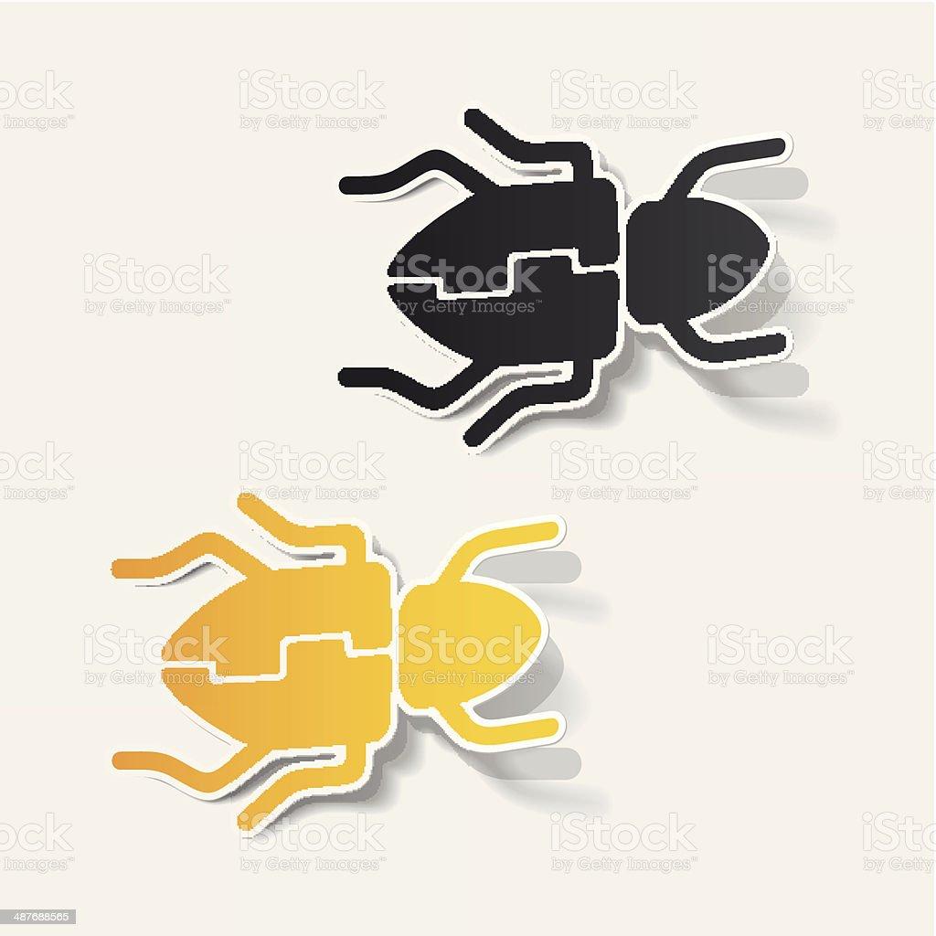 realistic design element: beetle royalty-free stock vector art