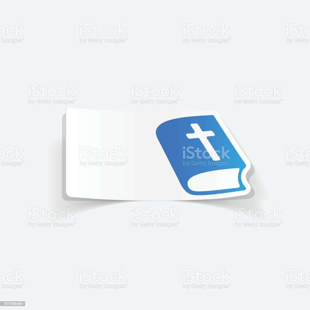 realistic design element: bible vector art illustration