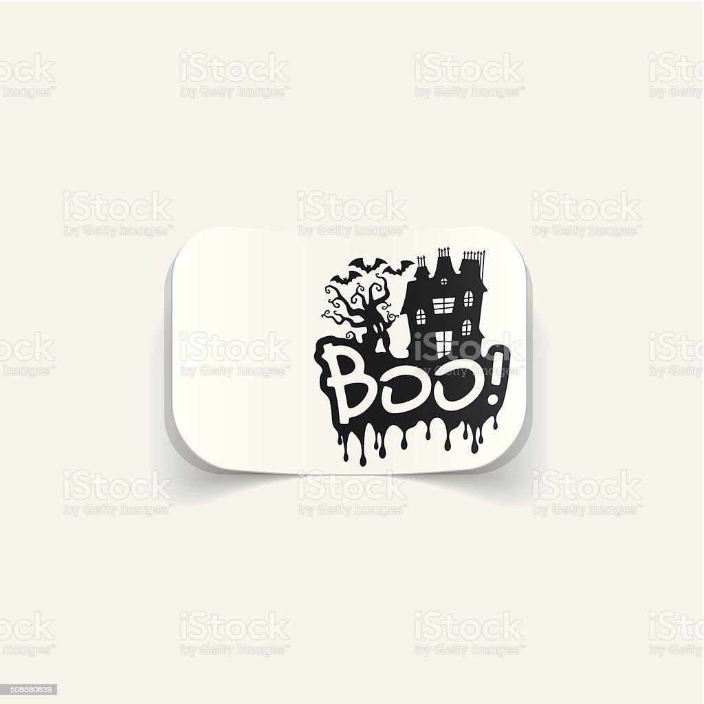 realistic design element: boo vector art illustration