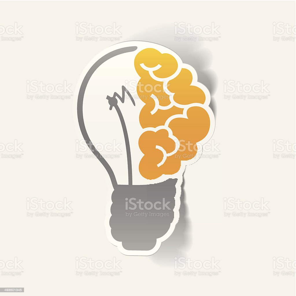 realistic design element: brain lamp royalty-free stock vector art