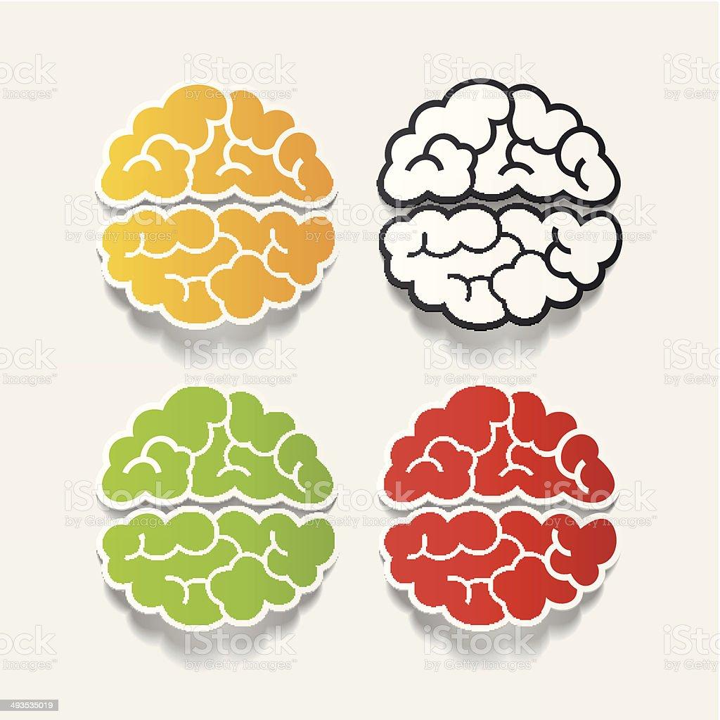 realistic design element: brain royalty-free stock vector art