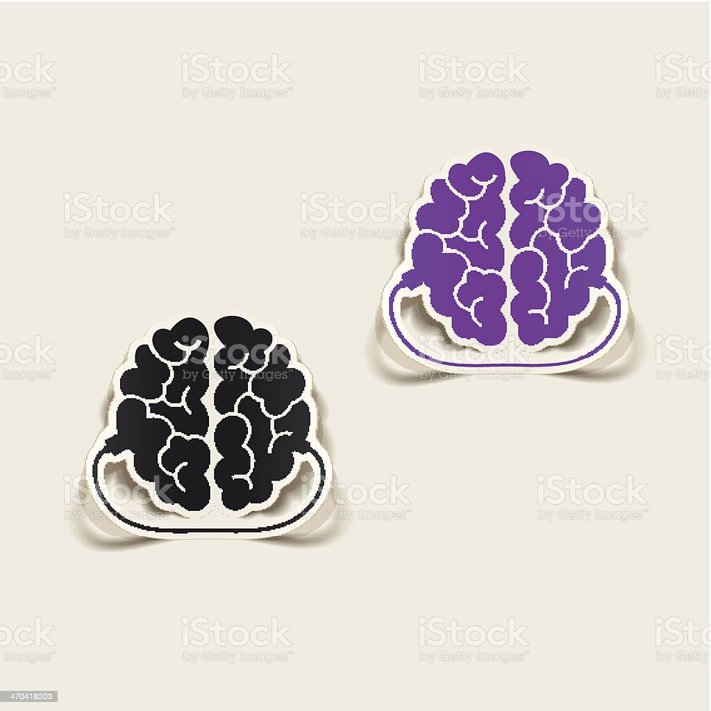 realistic design element: brain-usb, plug royalty-free stock vector art
