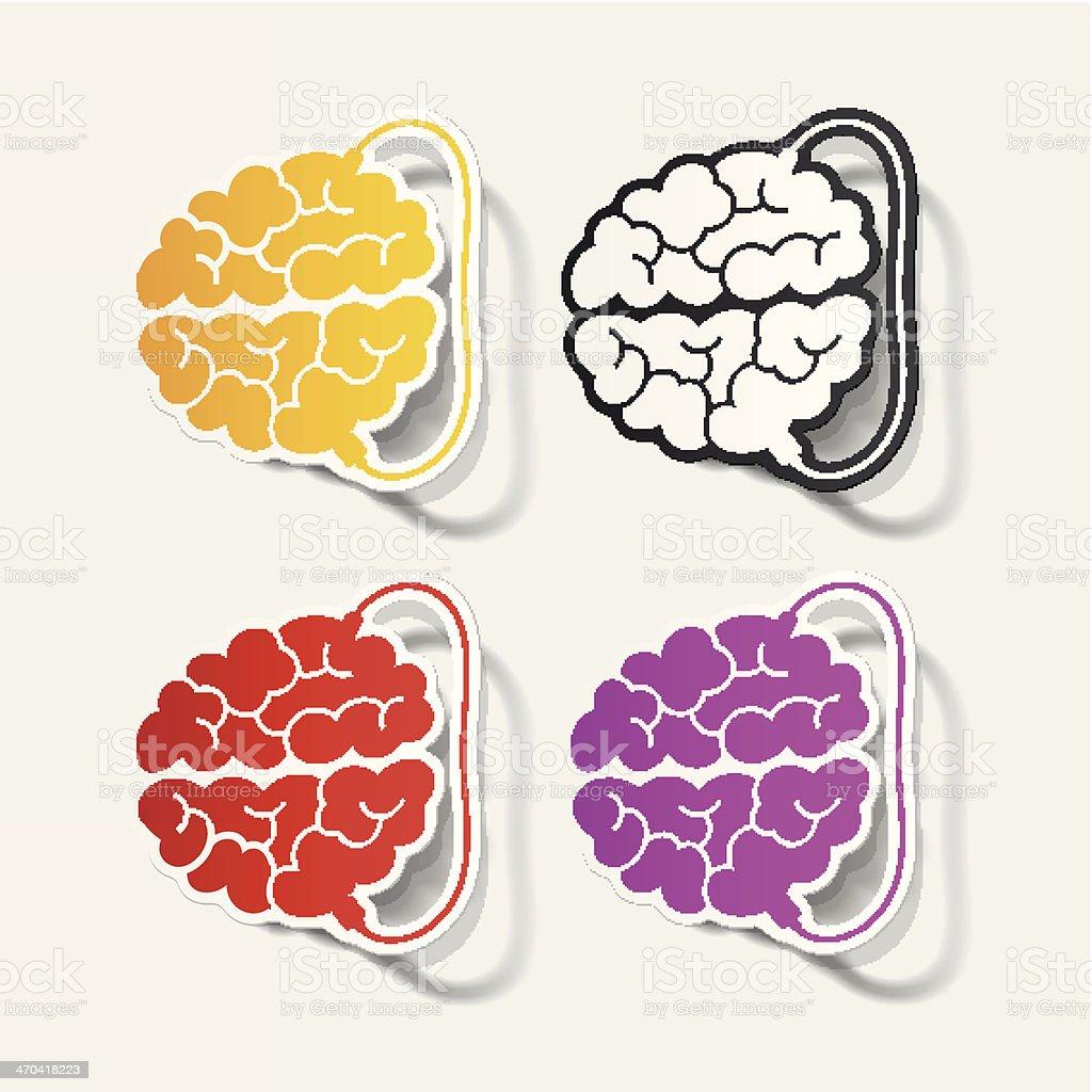 realistic design element: brain-usb, plug royalty-free stock vector art