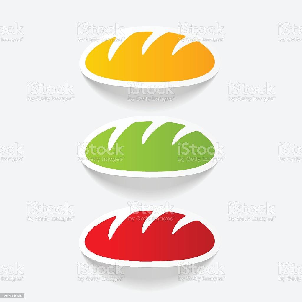 realistic design element: bread vector art illustration