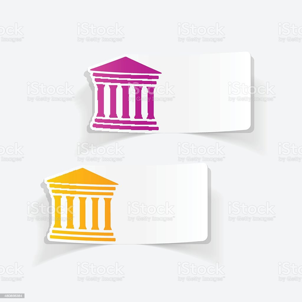 realistic design element: courthouse vector art illustration