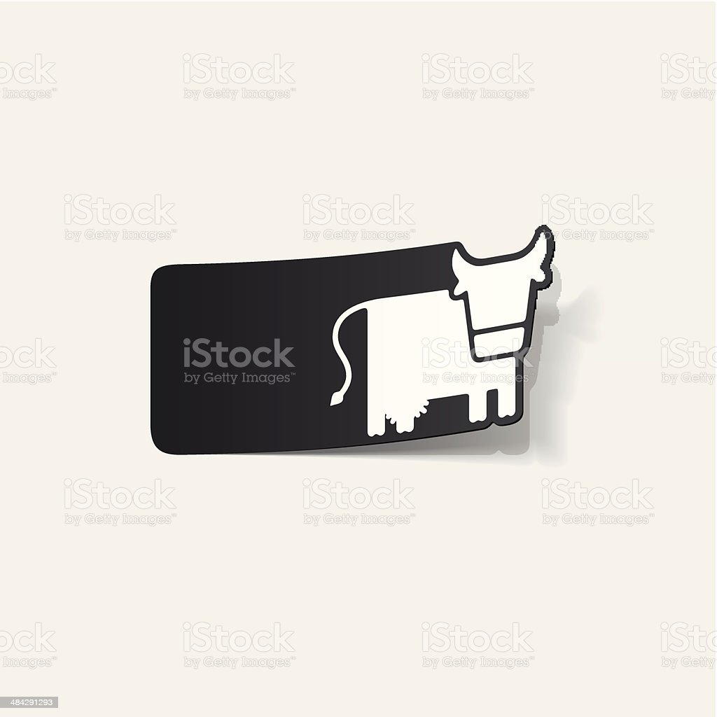 realistic design element: cow royalty-free stock vector art
