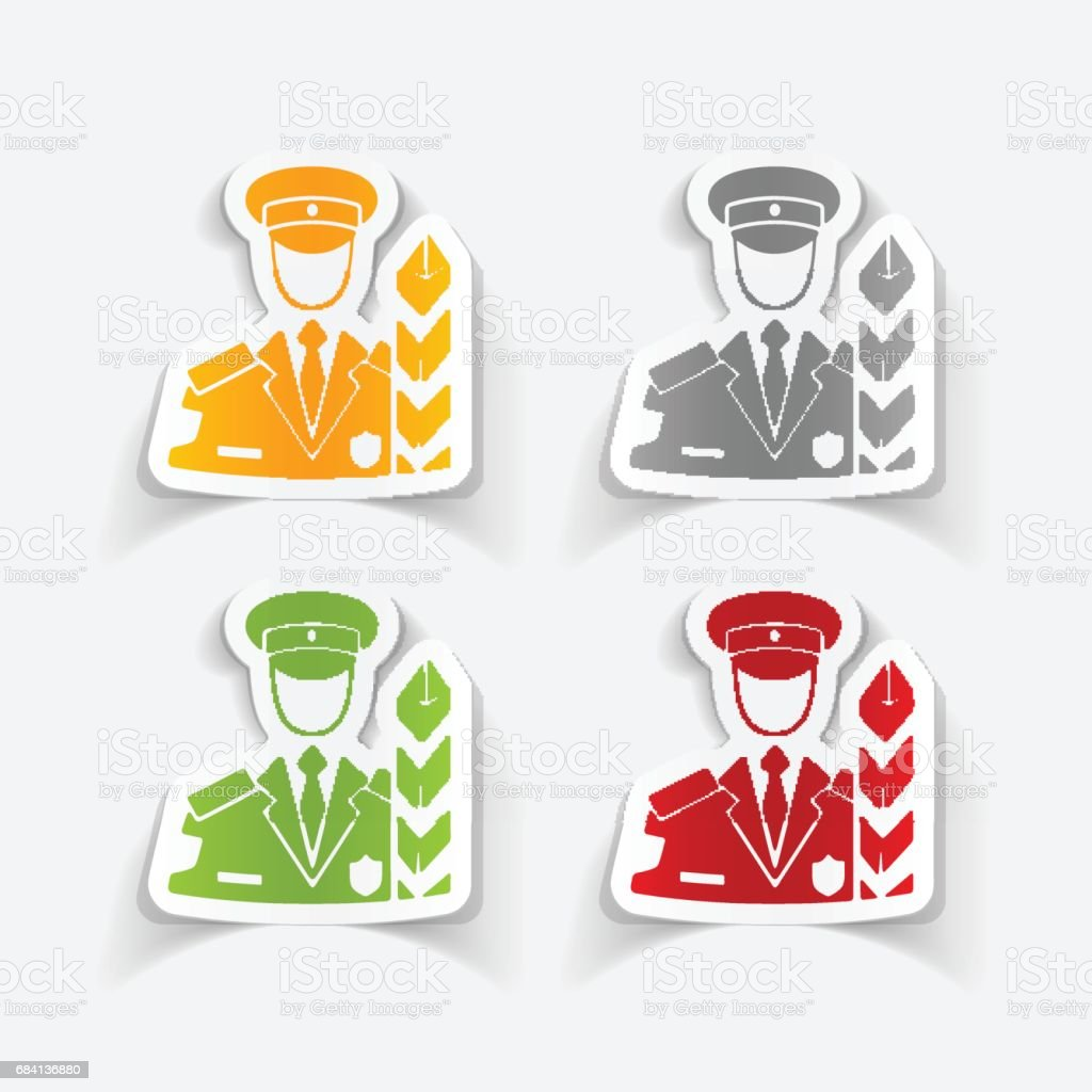realistic design element. customs inspector vector art illustration