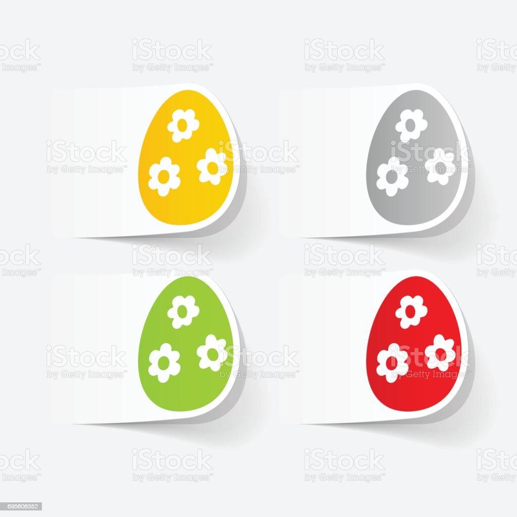 realistic design element: easter egg vector art illustration