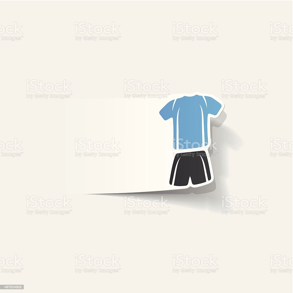 realistic design element: Football clothing royalty-free stock vector art