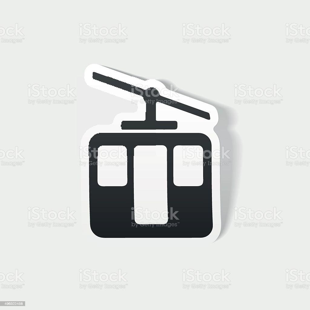realistic design element: funicular vector art illustration