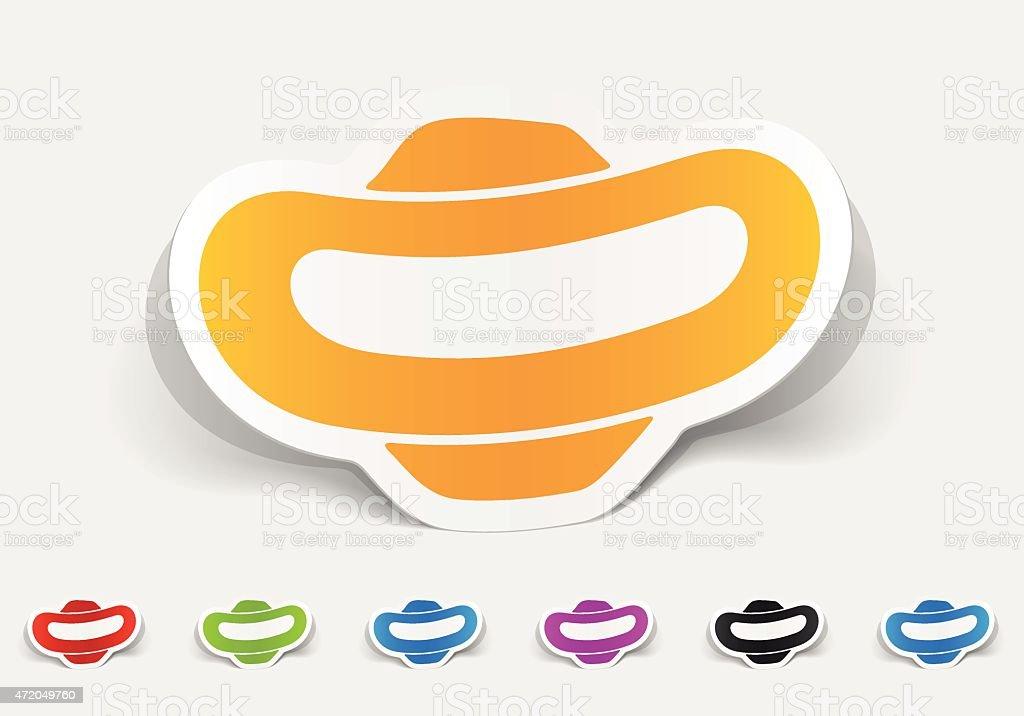 realistic design element. gynecological tampon vector art illustration