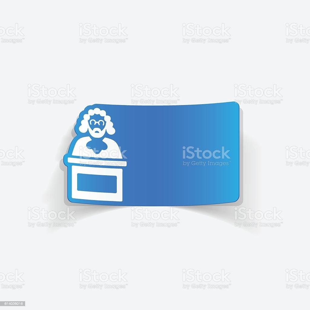 realistic design element. judge vector art illustration