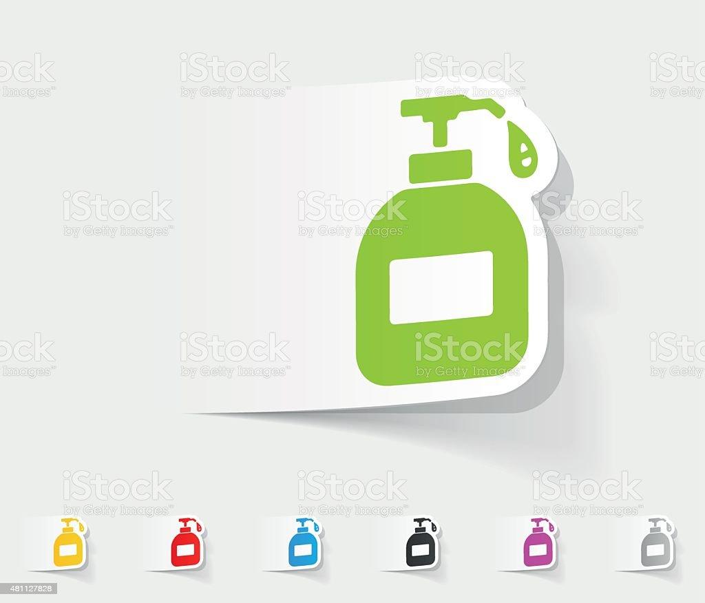 realistic design element. liquid soap vector art illustration