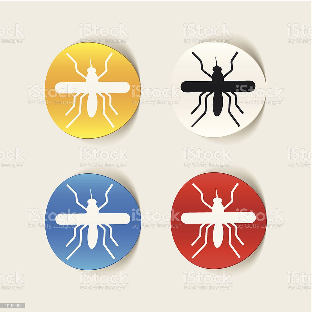 realistic design element: mosquito royalty-free stock vector art