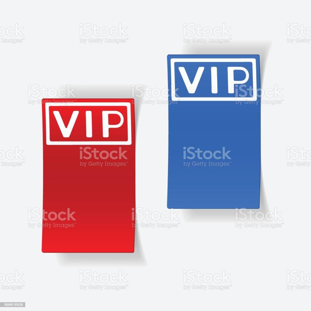 realistic design element: vip vector art illustration