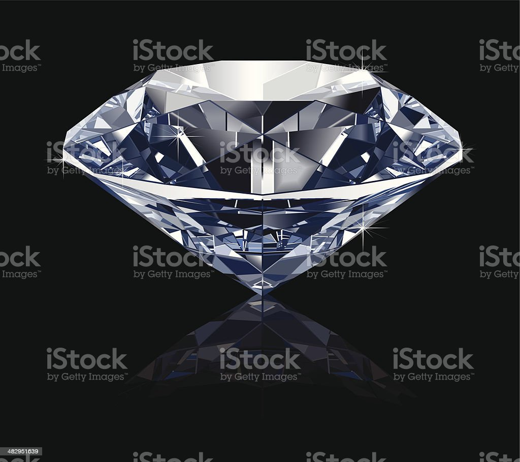 Realistic Diamond royalty-free stock vector art