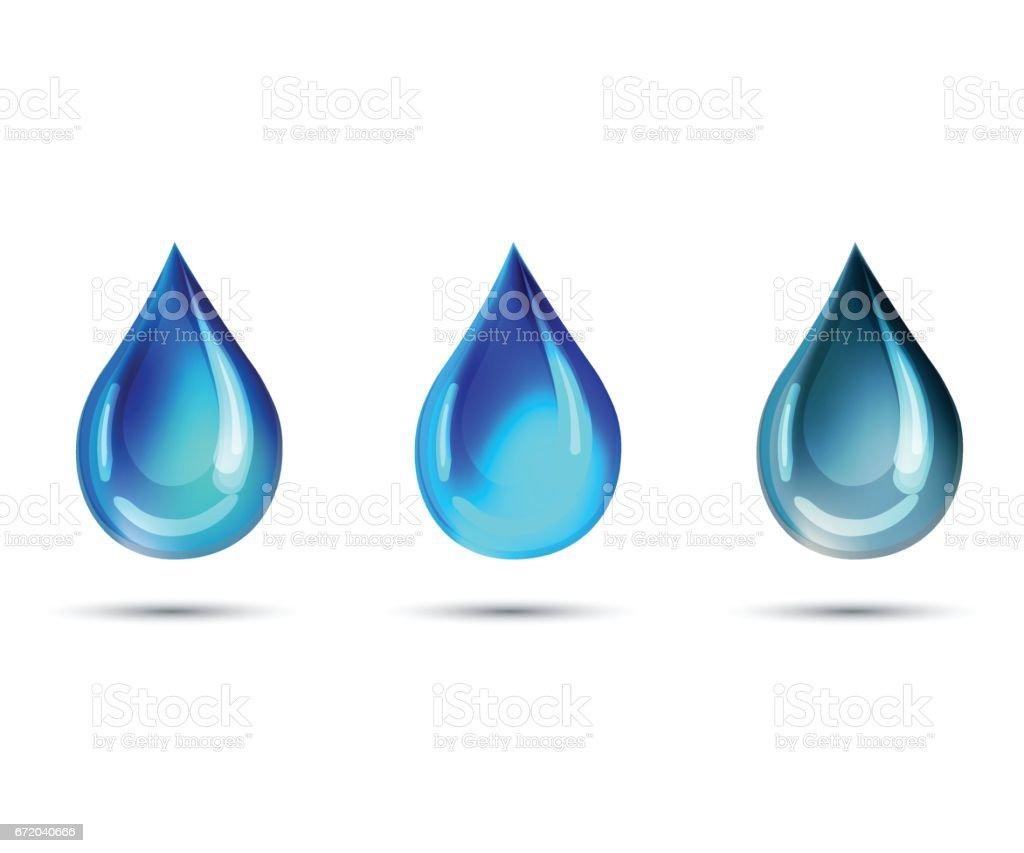 Realistic Drop Illustration vector art illustration