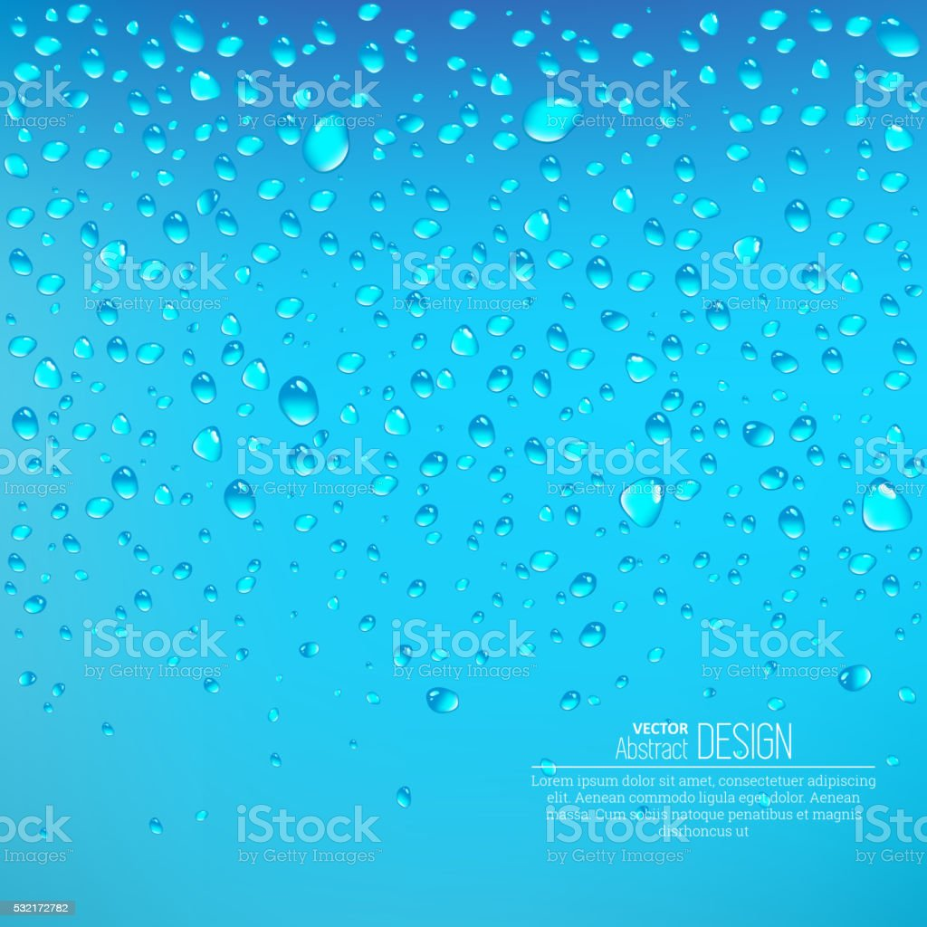 Realistic drops vector art illustration