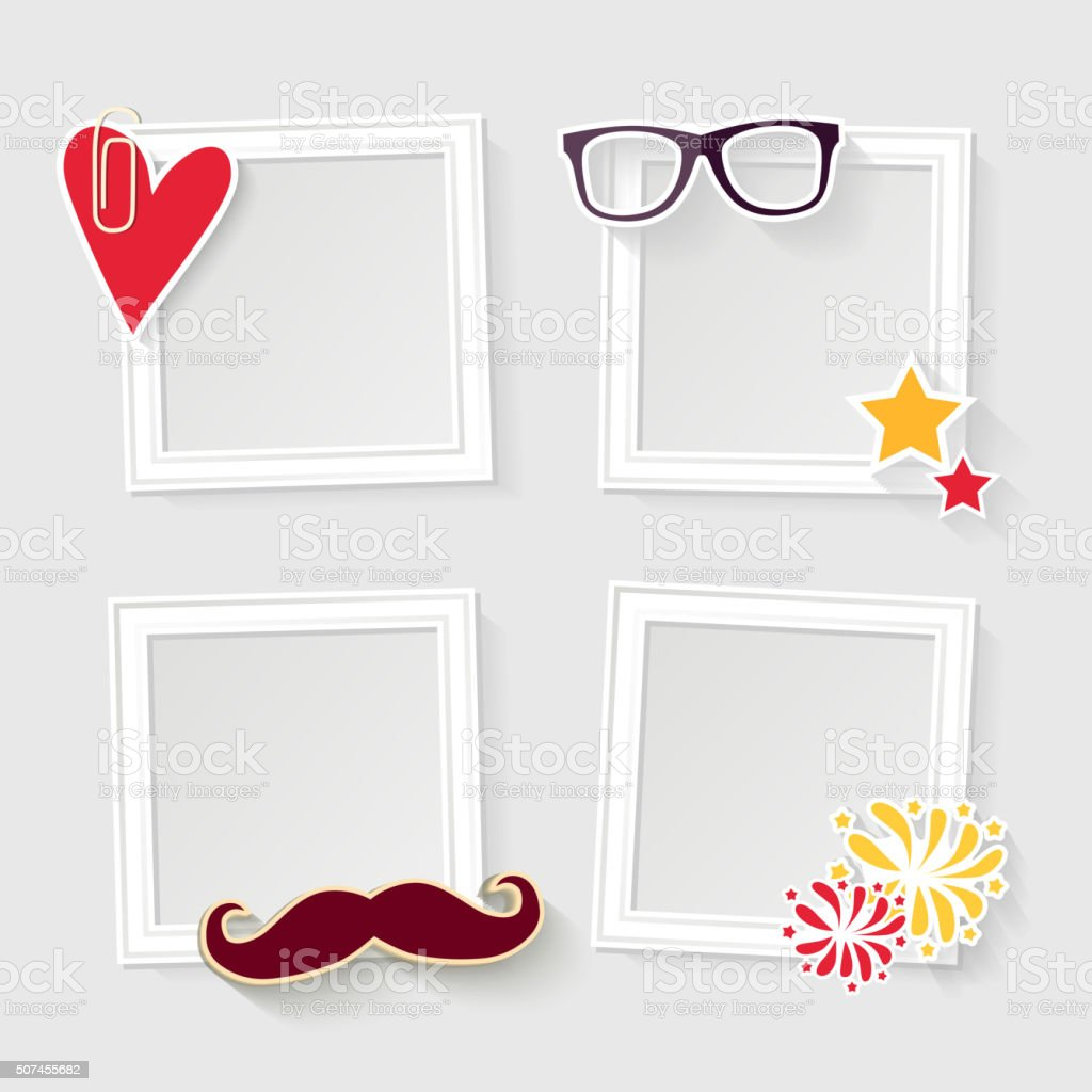 Realistic ?elebration photo frame vector art illustration