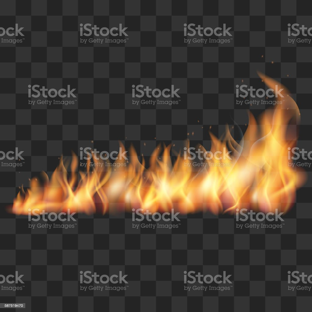 Realistic fire trail vector illustration vector art illustration