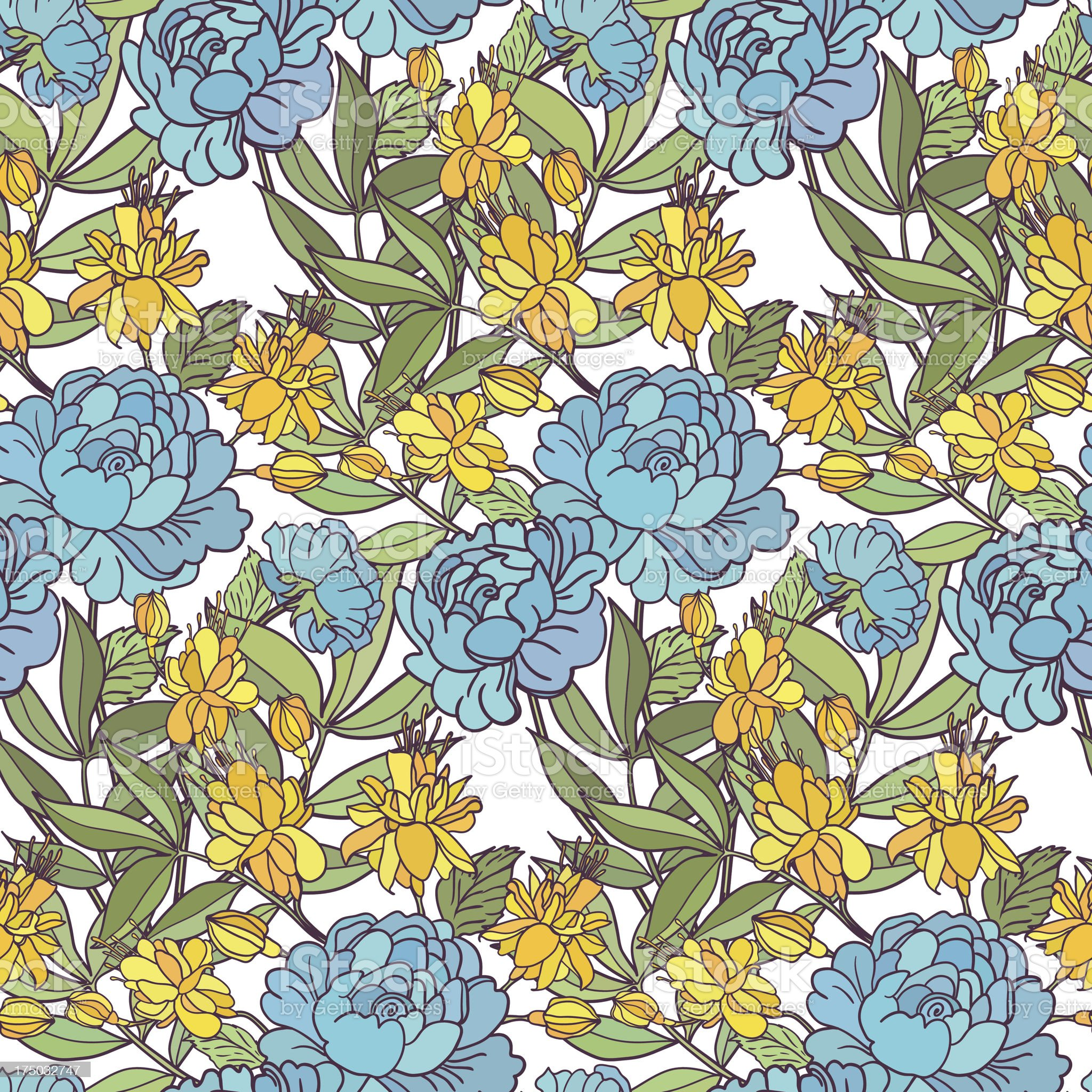 Cute floral seamless pattern background royalty-free stock vector art