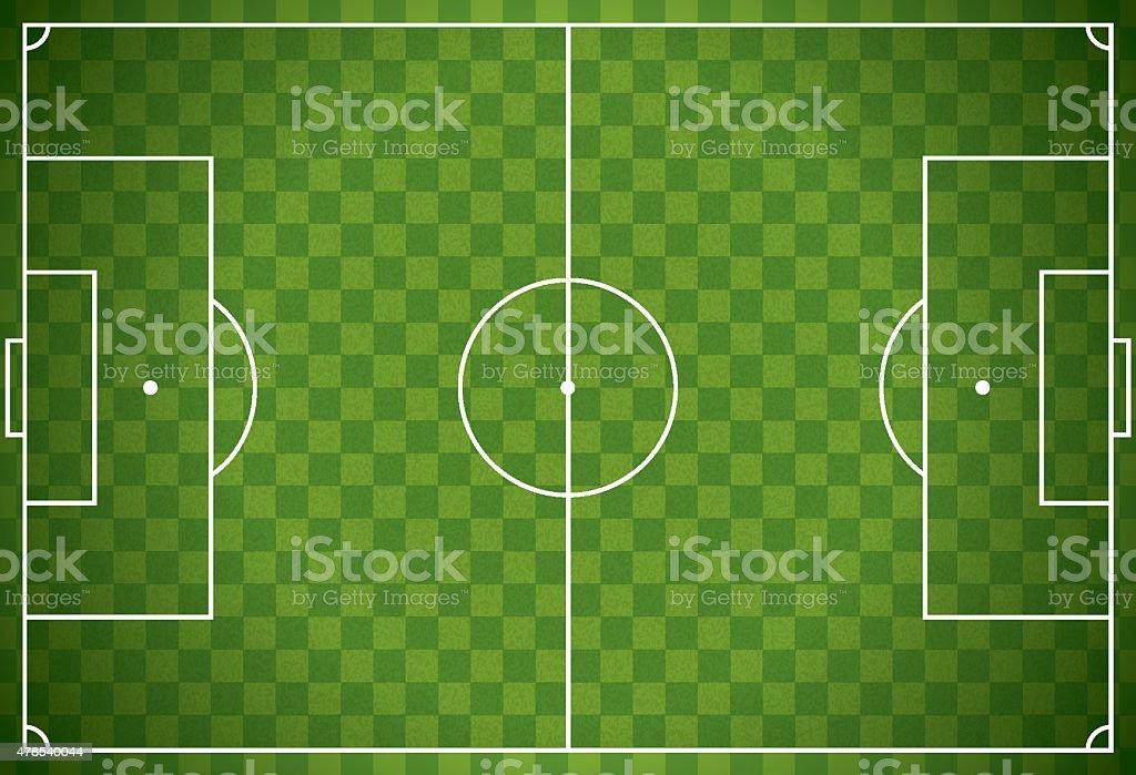 Realistic Football - Soccer Field Illustration vector art illustration