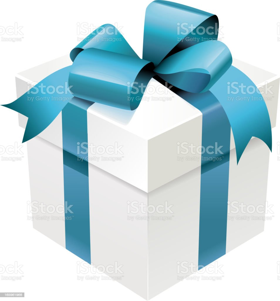 Realistic Gift Box vector art illustration