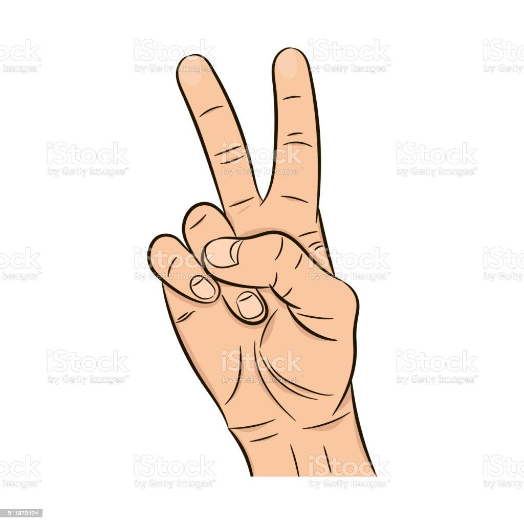 Realistic hand vector art illustration