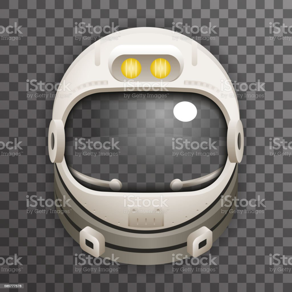 Realistic Helmet 3d Cosmonaut Astronaut Spaceman Tantamareska Poster Transperent Glass vector art illustration