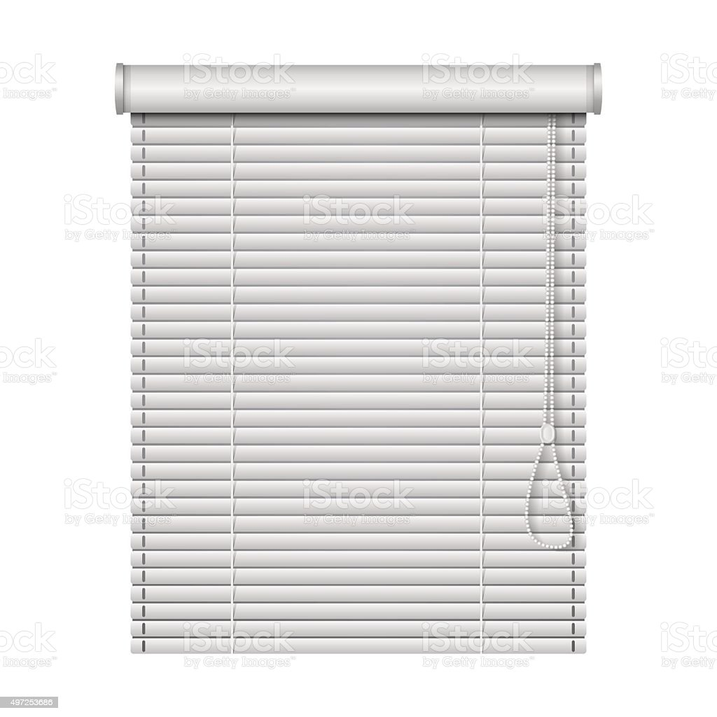 realistic home related blinds isolated on white background vector art illustration