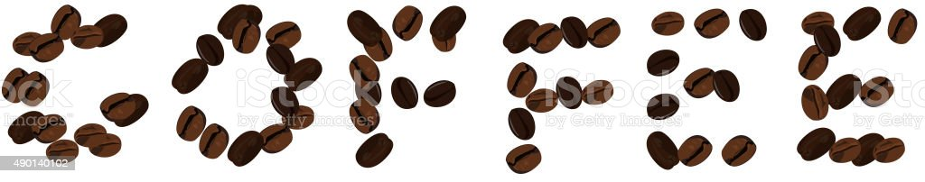 Realistic illustration of coffee beans vector art illustration