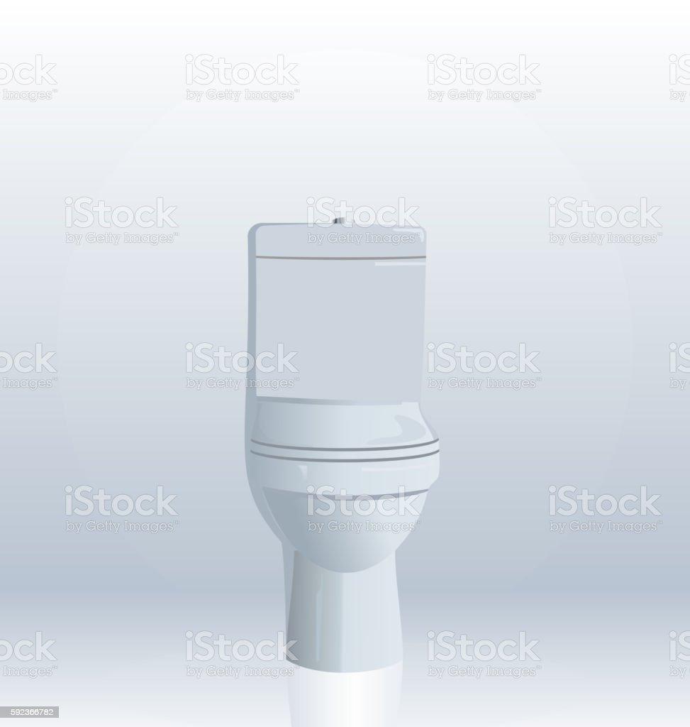Realistic illustration of toilet bowl vector art illustration