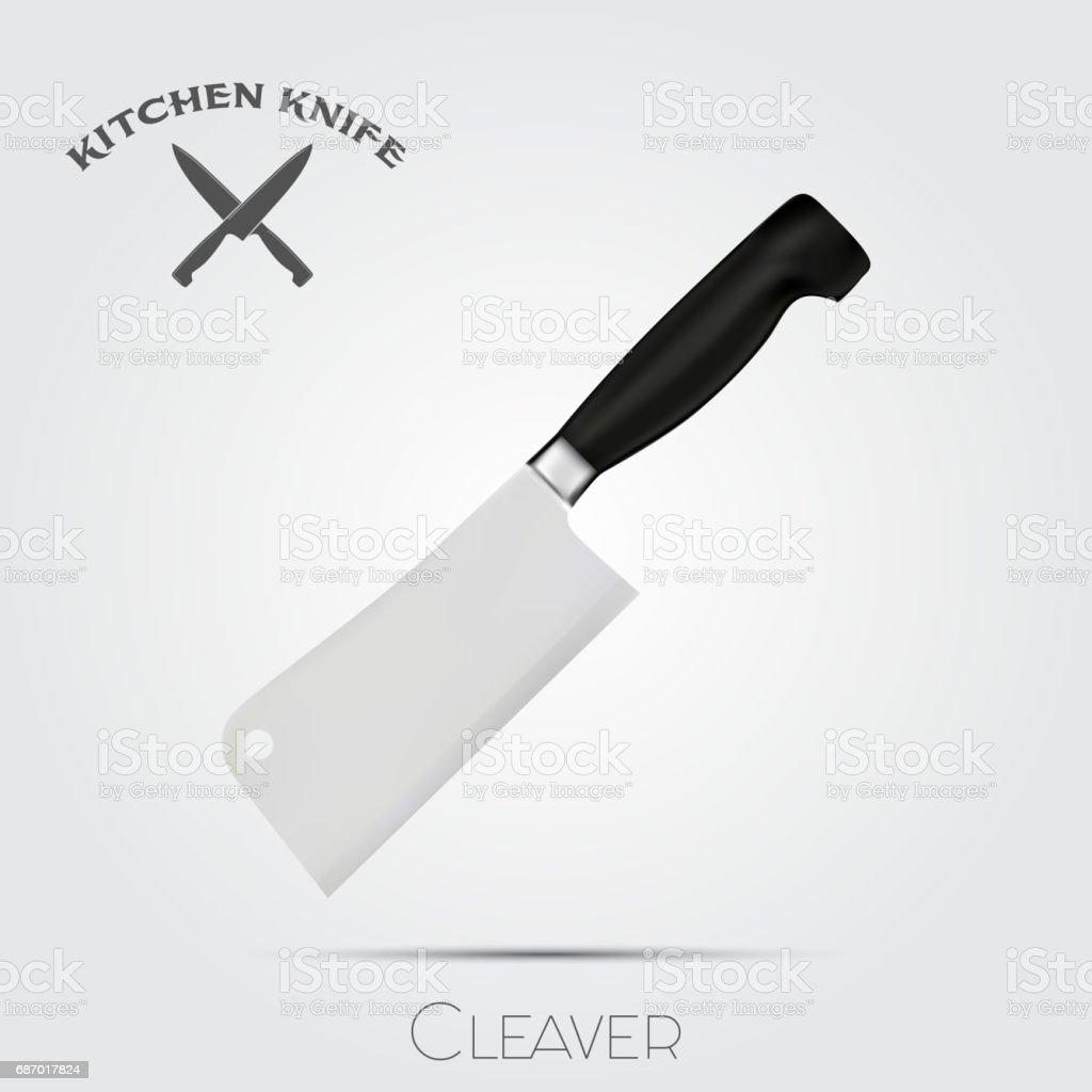 Kitchen Knife Vector realistic kitchen knife vector illustration isolated on light
