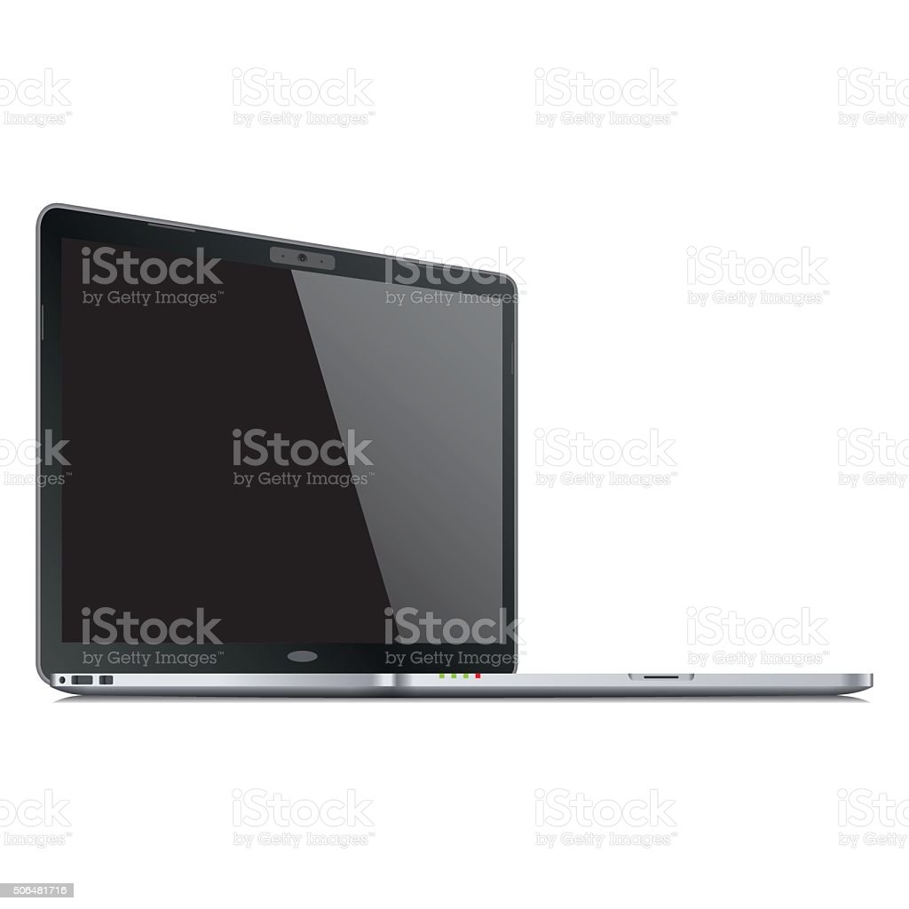 Realistic laptop template. Vector vector art illustration
