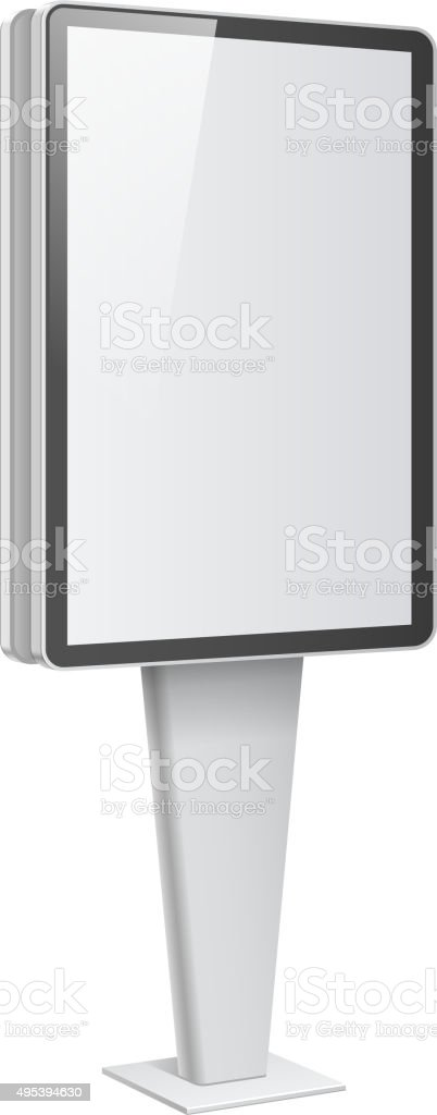 Realistic light box template on white background vector art illustration