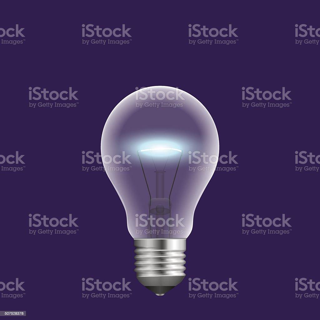 realistic light bulb. Vector illustration. vector art illustration
