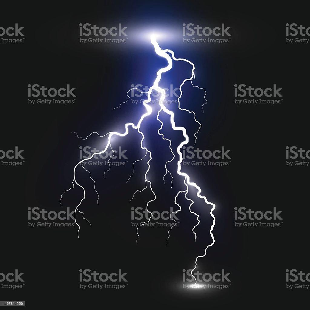 Realistic lightning sign vector art illustration