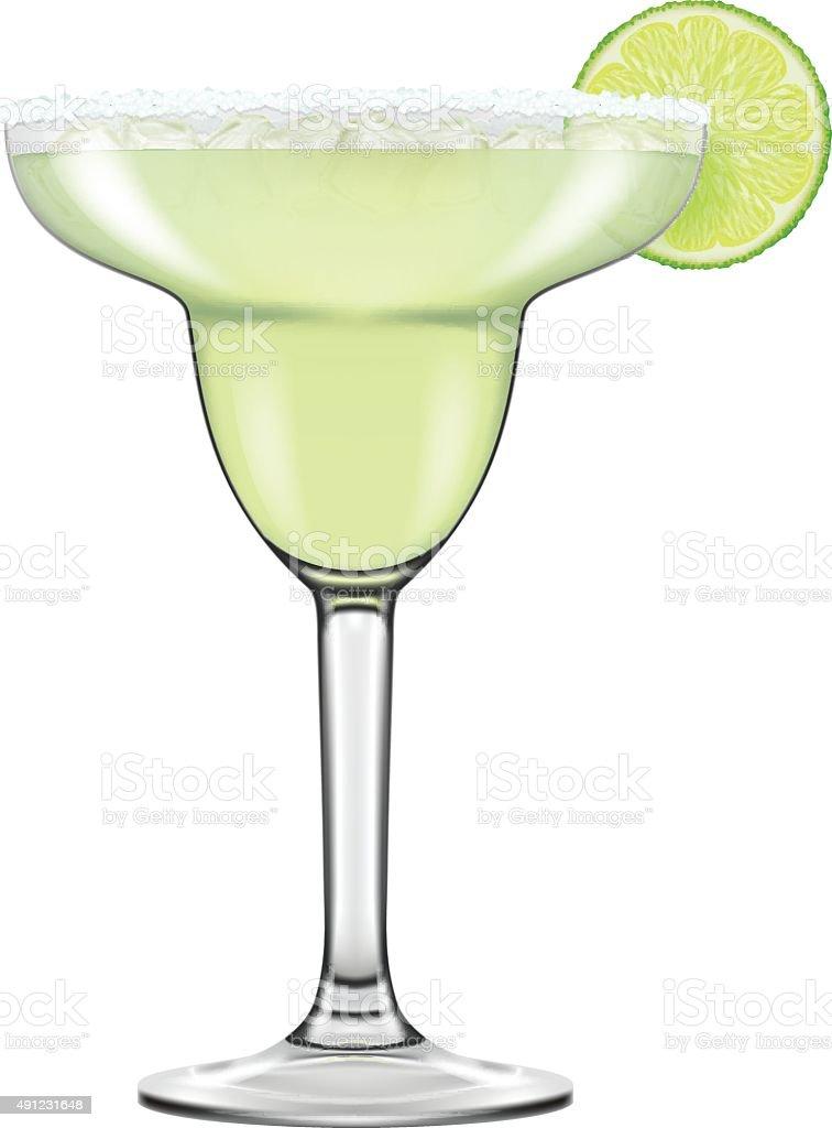 Realistic looking Maragarita cocktail. vector art illustration