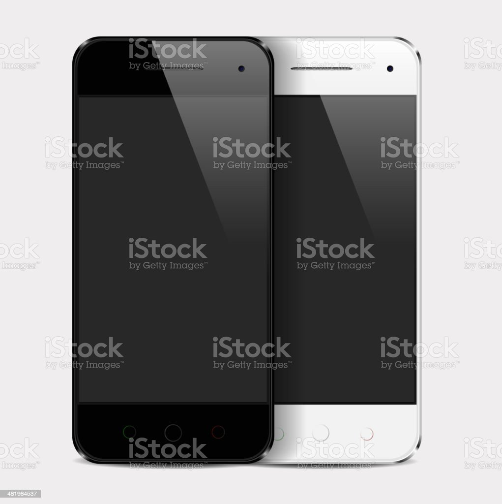 Realistic mobile phone template royalty-free stock vector art