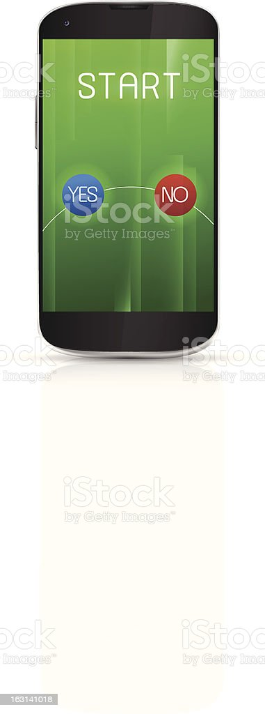 Realistic mobile phone royalty-free stock vector art