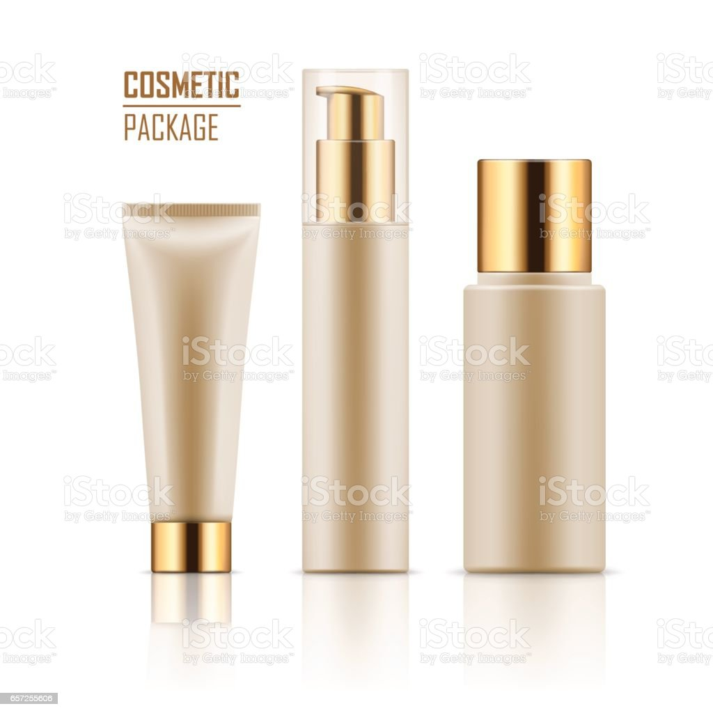 Realistic mockup for cosmetic products. vector art illustration