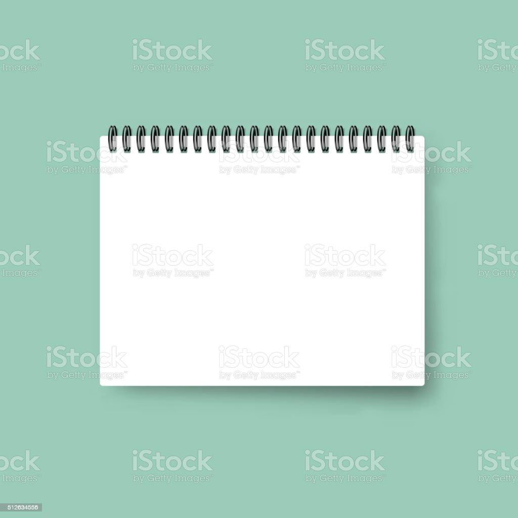 Realistic notebook. Calendar template. Blank cover design. Mock up notebooks. vector art illustration