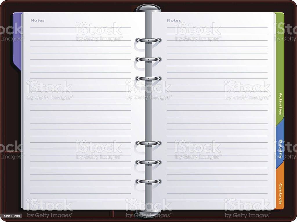 realistic notebook vector art illustration