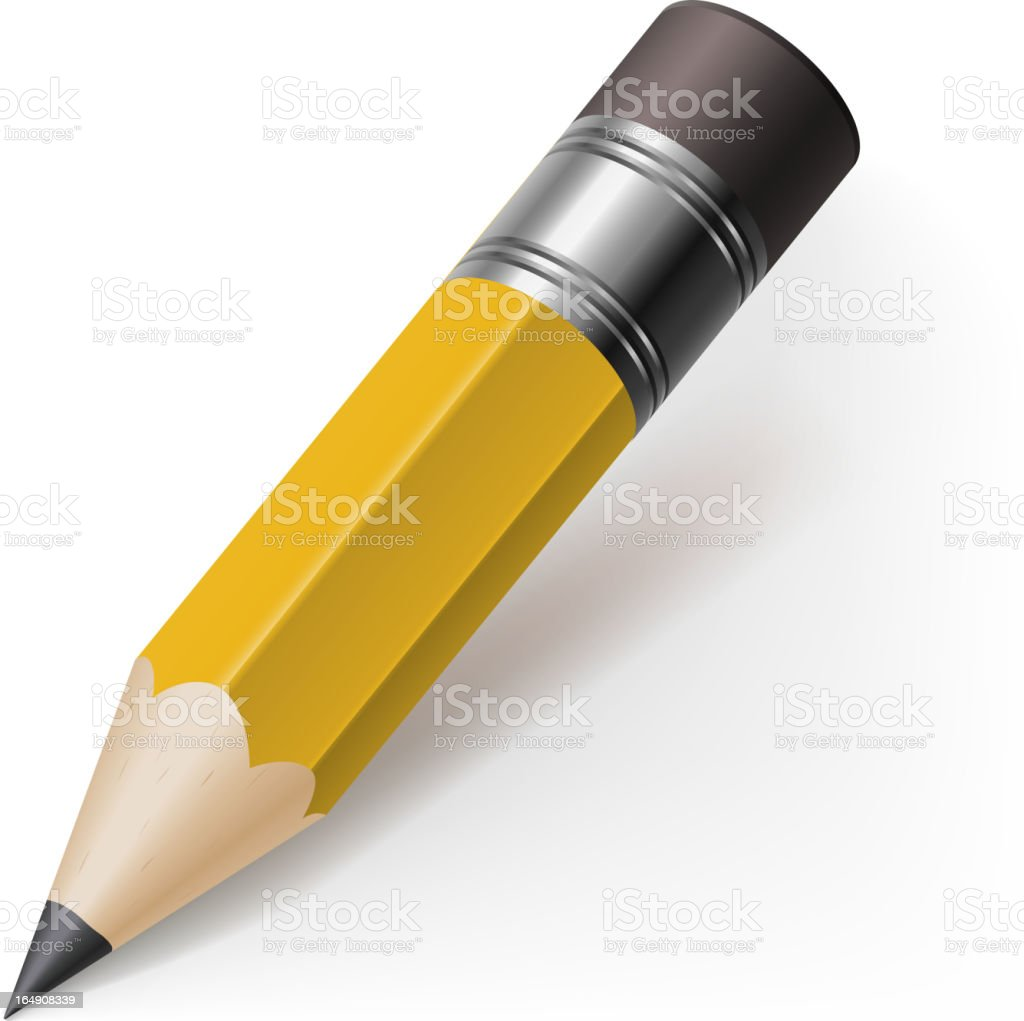 Realistic pencil royalty-free stock vector art