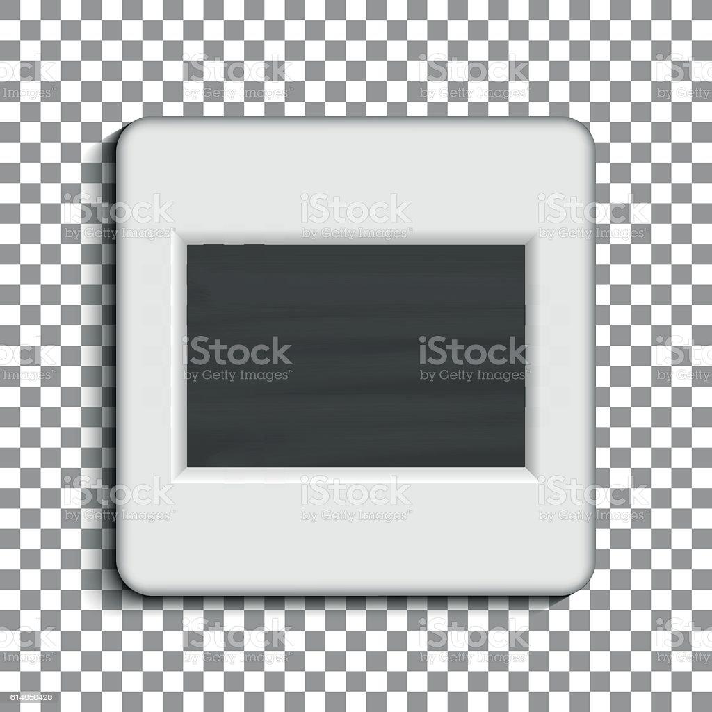 Realistic photographic slide. Retro design for photo presentation vector art illustration