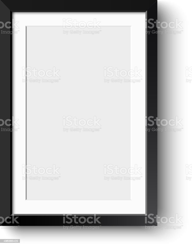 Realistic picture frame isolated on white background. vector art illustration