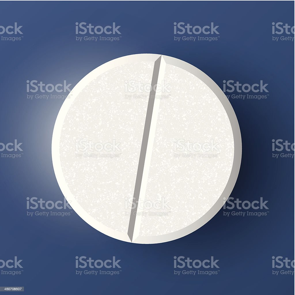 Realistic pill royalty-free stock vector art