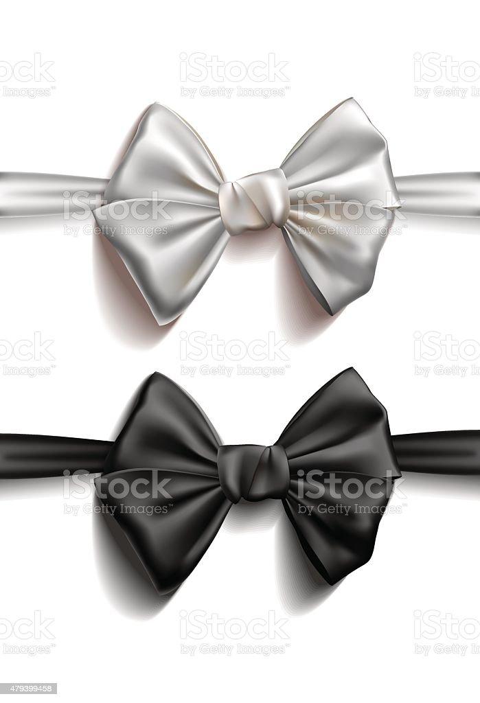 Realistic Ribbon bows. Vector illustration vector art illustration
